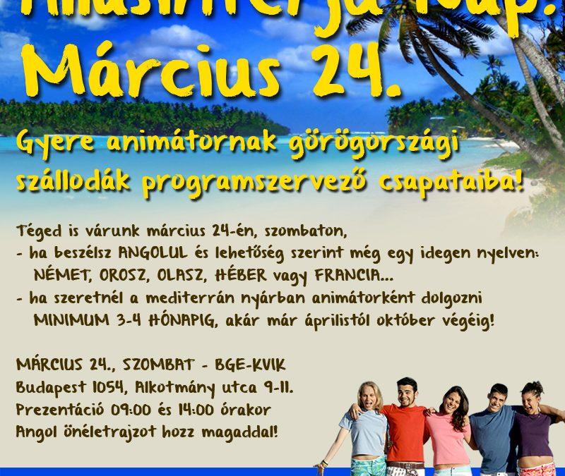 Görög ÁLLÁSINTERJÚ NAP március 24-én!