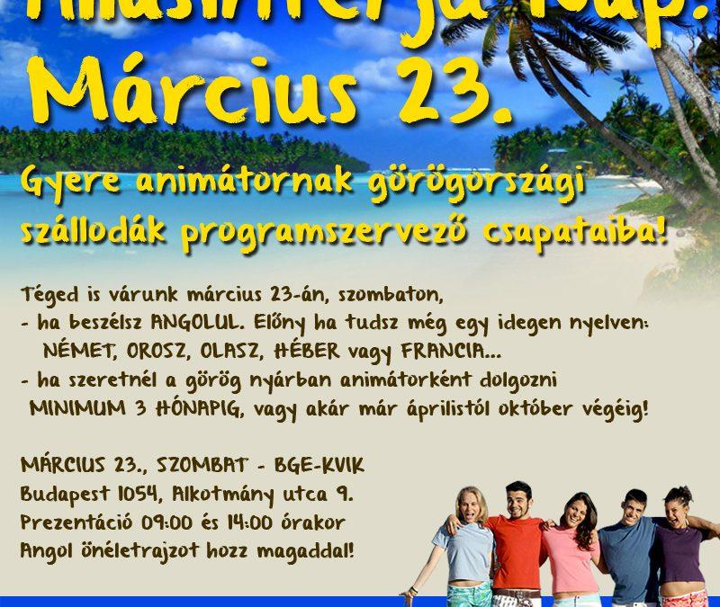 Görögországi ÁLLÁSINTERJÚ NAP március 23-án szombaton!