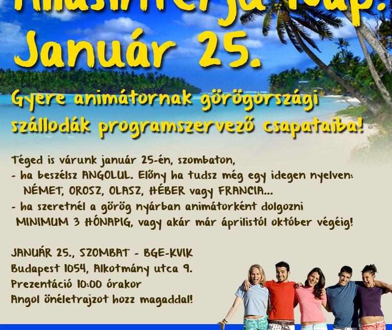 Görögországi ÁLLÁSINTERJÚ NAP január 25-én!
